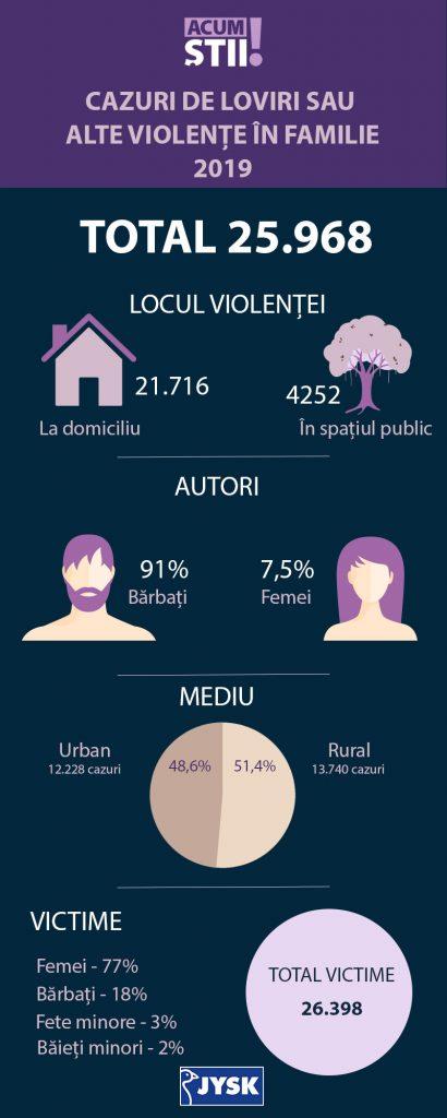 Infografic cazuri de violenta domestica 2019